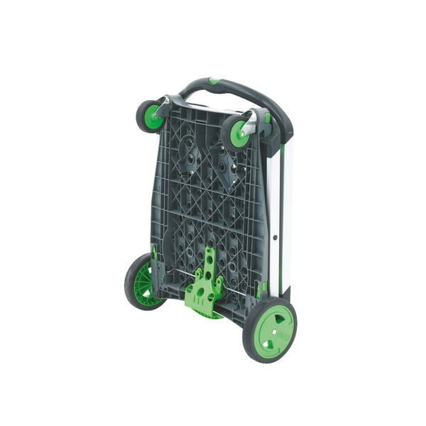 GPC Clever Folding Trolley, Green/Silver, Max Weight 60kg - 359286