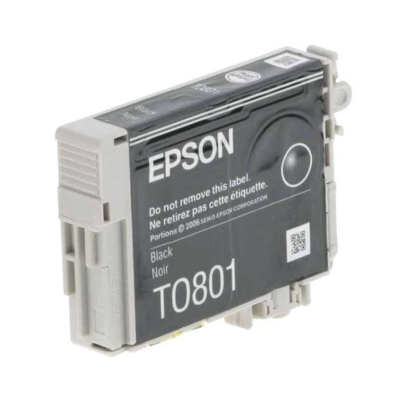 pson T0801 Black Inkjet Cartridge C13T08014011 / T0801