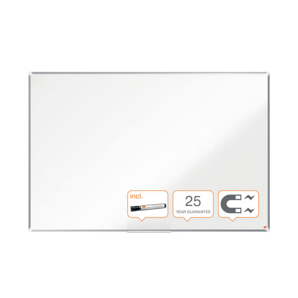 Nobo Premium Plus Magnetic Enamel Whiteboard 900 x 600mm 1915144
