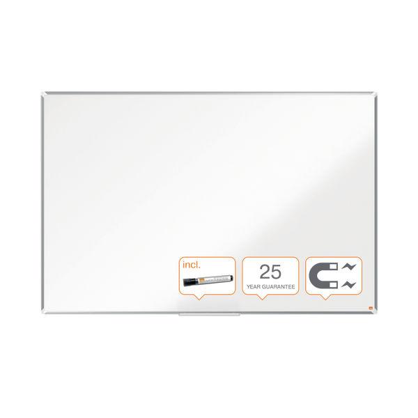 Nobo Premium Plus Enamel Magnetic Whiteboard 1200 x 900mm 1915145