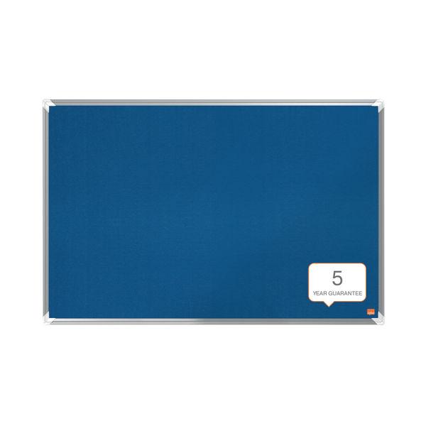 Nobo Premium Plus Felt Notice Board 1800 x 1200mm Blue 1915192