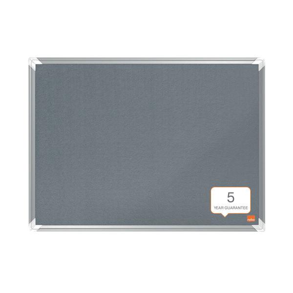 Nobo Premium Plus Felt Notice Board 900 x 600mm Grey 1915195