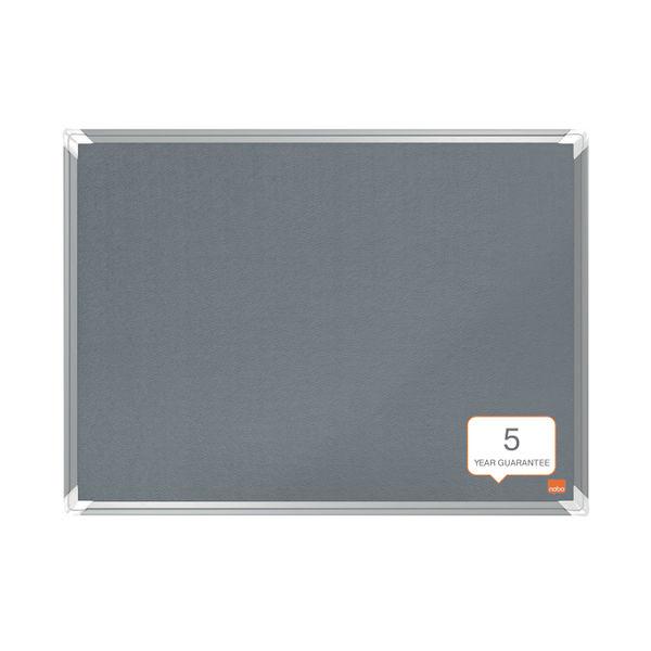 Nobo Premium Plus Felt Notice Board 1800 x 1200mm Grey 1915199