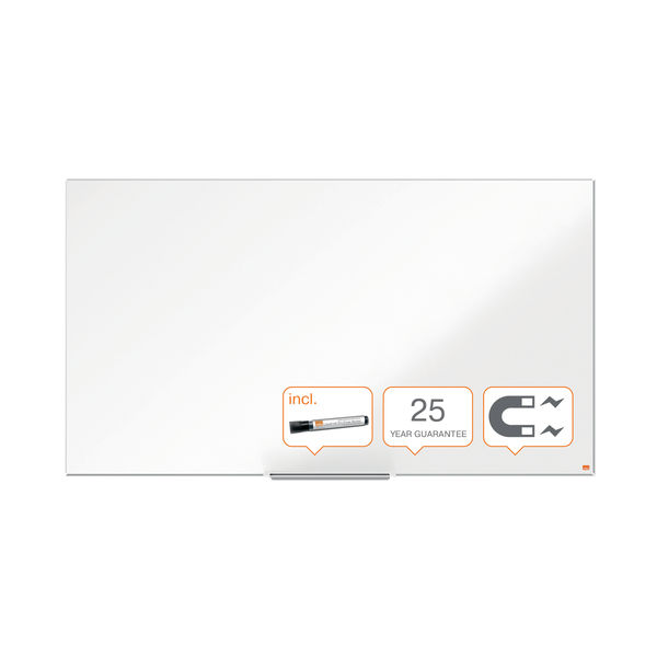 Nobo Impression Pro Widescreen Enamel Magnetic Whiteboard 1550 x 870mm 1915251