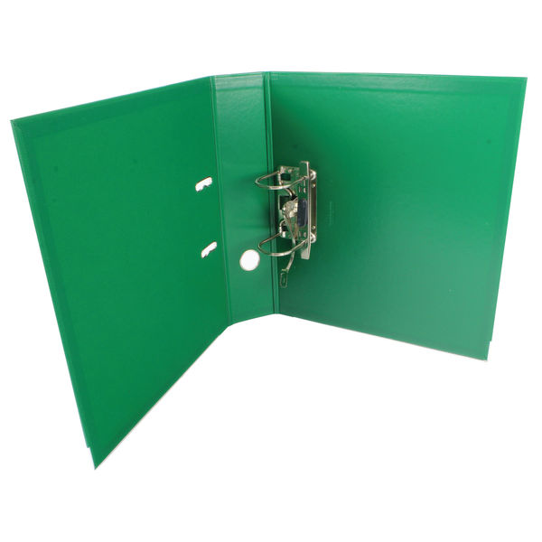 Esselte No.1 Power Lime Green A4 Lever Arch Files, 75mm - Pack of 10 - 48066