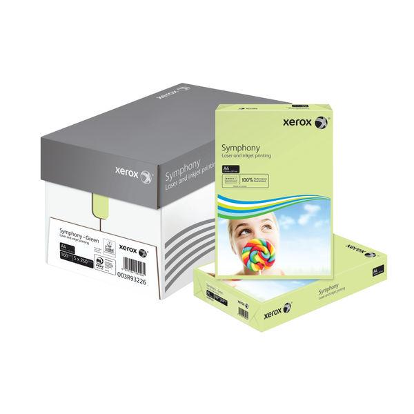 Xerox Symphony Pastel Green A4 Card, 160gsm,  250 Sheets - 003R93226