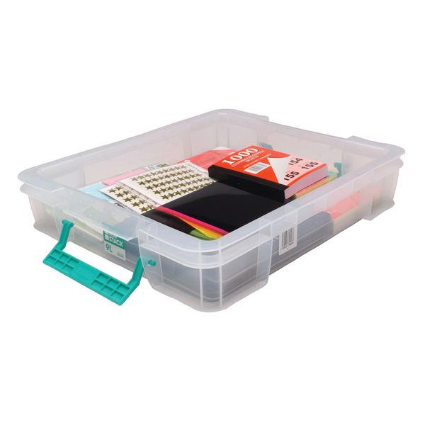 StoreStack 9 Litre Storage Box W430xD360xH90mm Clear RB75897