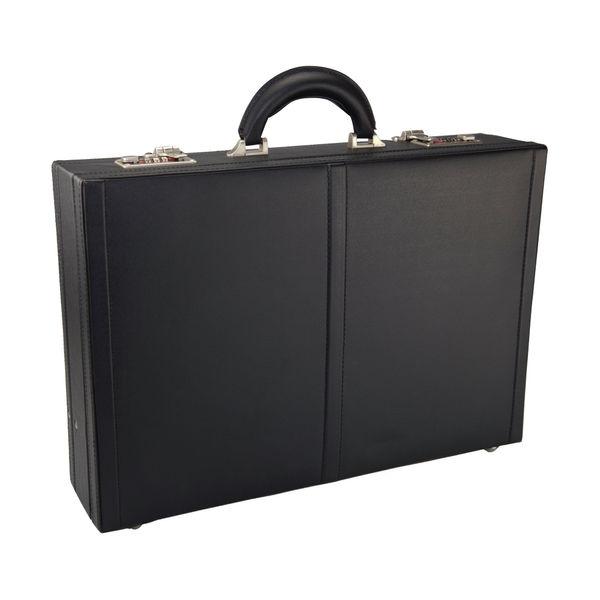 Monolith Leather Look Expandable Attaché Case - 2350