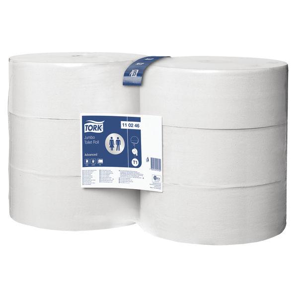 Tork T1 Jumbo Toilet Roll 2-Ply 1700 Sheets (Pack of 6) 110246