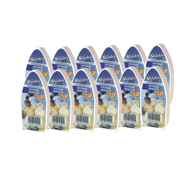 Jeyes Shades Marine Breeze Air Freshener Gel (Pack of 12) 1008187