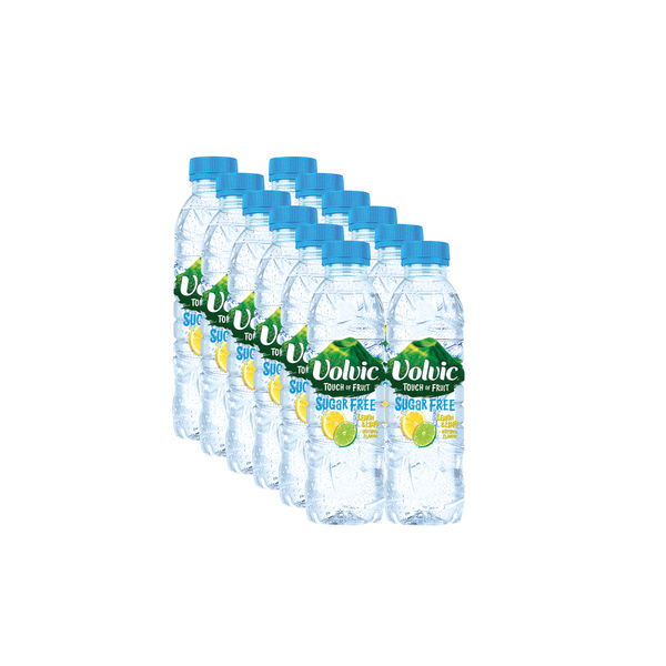 Volvic 500ml Lemon and Lime Touch of Fruit Water, Pack of 12 | 122441