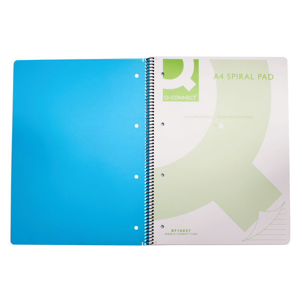 Q-Connect Blue A4 Polypropylene Notebooks, Pack of 5 - KF10037