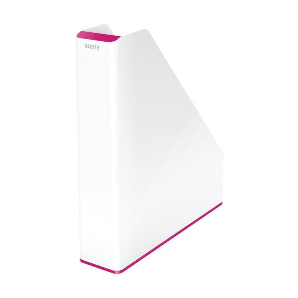 Leitz WOW Magazine File Dual Colour White/Pink 53621023