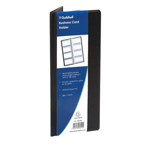Goldline Classic Black 280 x 110mm Business Card Holder - CBC4P