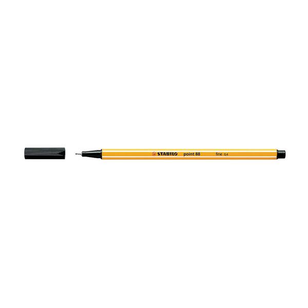 STABILO Black Point 88 Fineliner Pens, Pack of 10 - 88/46