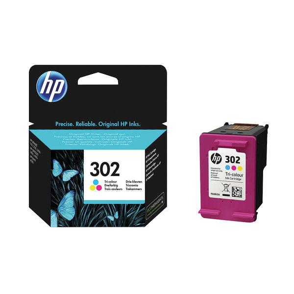 HP 302 Tri Colour Ink Cartridge | F6U65AE