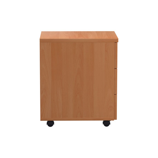 First Beech V2 3 Drawer Mobile Pedestal