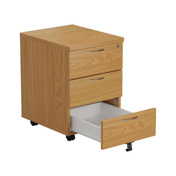 First Nova Oak 3 Drawer Mobile Pedestal