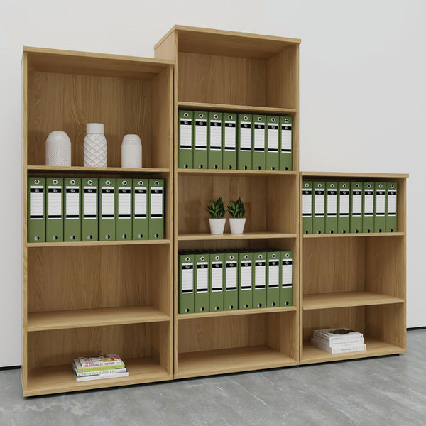 First 1200mm White Wooden Bookcase