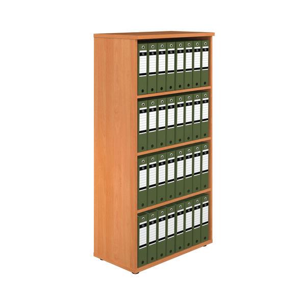 First 1600mm Beech Wooden Bookcase