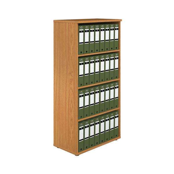 First 1600mm Nova Oak Wooden Bookcase