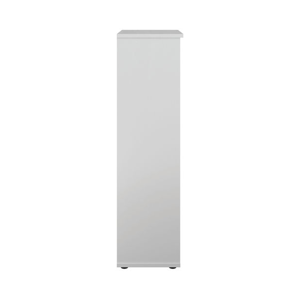 First 1600mm White Wooden Bookcase