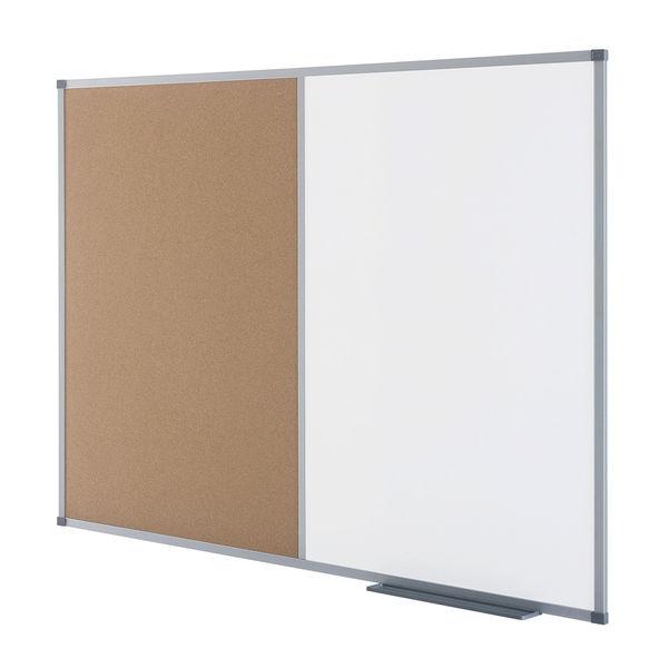 Nobo Combination Noticeboard 1200 x 900mm, Dry Wipe/Cork - 1901588