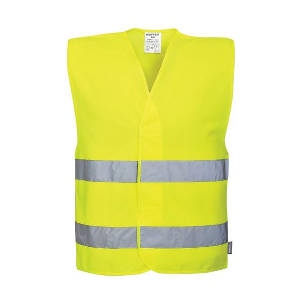 Hi-Vis Social Distancing Vest 2m Small/Medium Yellow C406 S/M