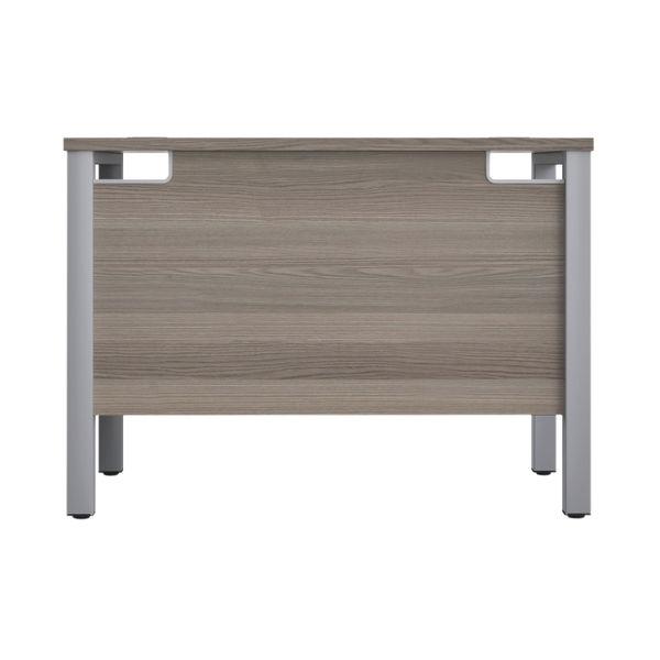 Jemini 1000mm Grey Oak/Silver Goal Post Rectangular Desk