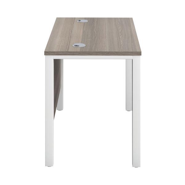 Jemini 1000mm Grey Oak/White Goal Post Rectangular Desk