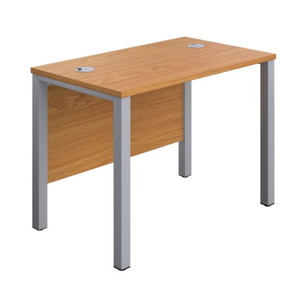Jemini 1000mm Nova Oak/Silver Goal Post Rectangular Desk
