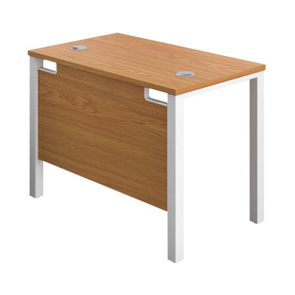 Jemini 1000mm Nova Oak/White Goal Post Rectangular Desk