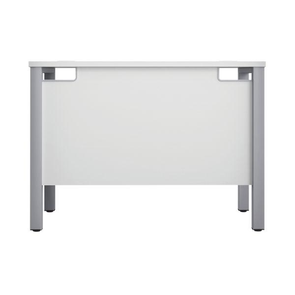 Jemini 1000mm White/Silver Goal Post Rectangular Desk