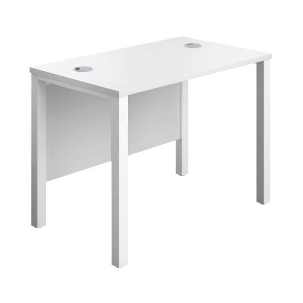 Jemini 1000mm White/White Goal Post Rectangular Desk