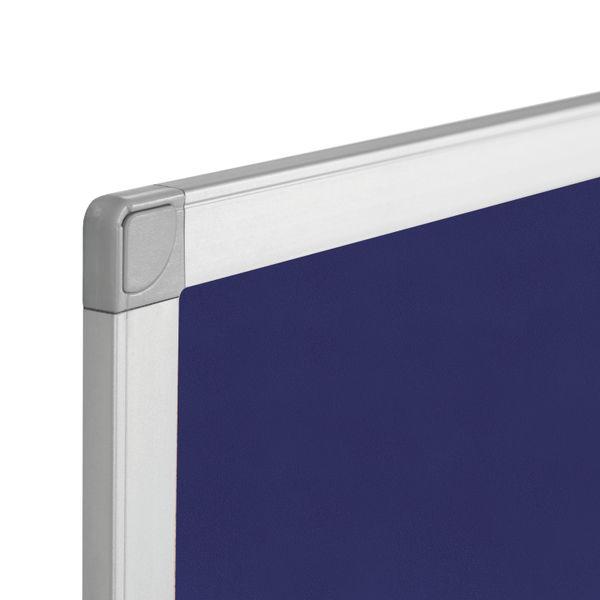 Q-Connect Blue 1200 x 900mm Aluminium Frame Notice Board - 9700029