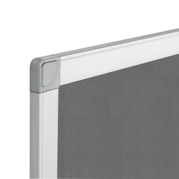 Q-Connect Grey 1800 x 1200mm Aluminium Frame Notice Board - 9700027