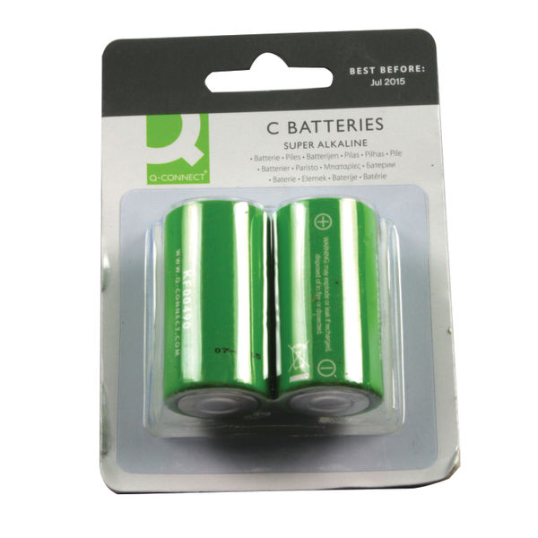 Q-Connect Super Alkaline C Batteries - KF00490
