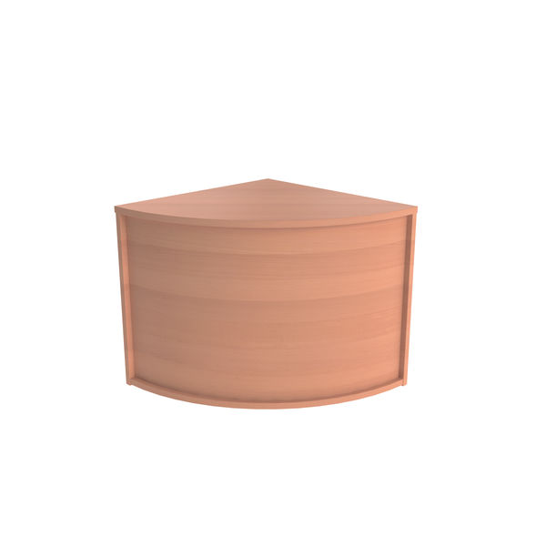 Jemini Beech Modular Corner Base Reception Unit