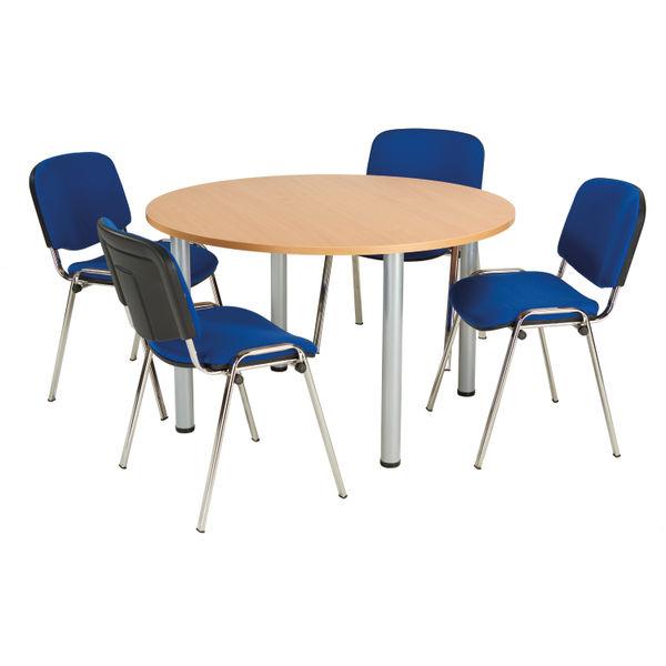 Jemini D1200mm Beech Circular Meeting Table