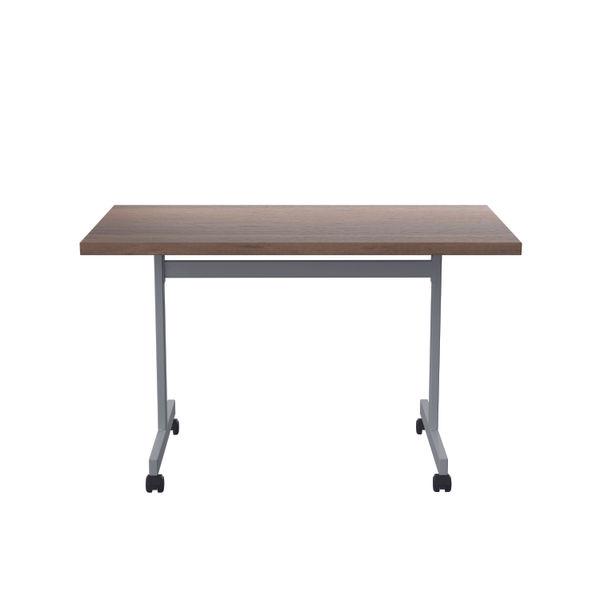 Jemini 1200x700mm Dark Walnut/Silver Rectangular Tilting Table