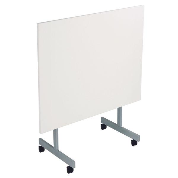 Jemini 1200x700mm White/Silver Rectangular Tilting Table