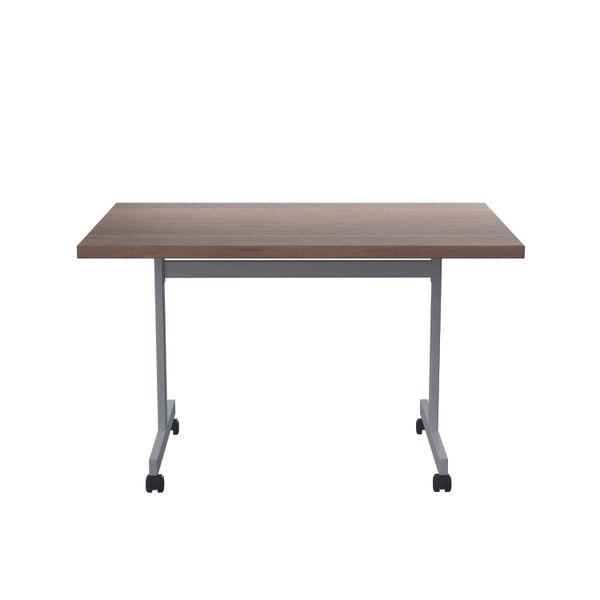 Jemini 1200x800mm Dark Walnut/Silver Rectangular Tilting Table