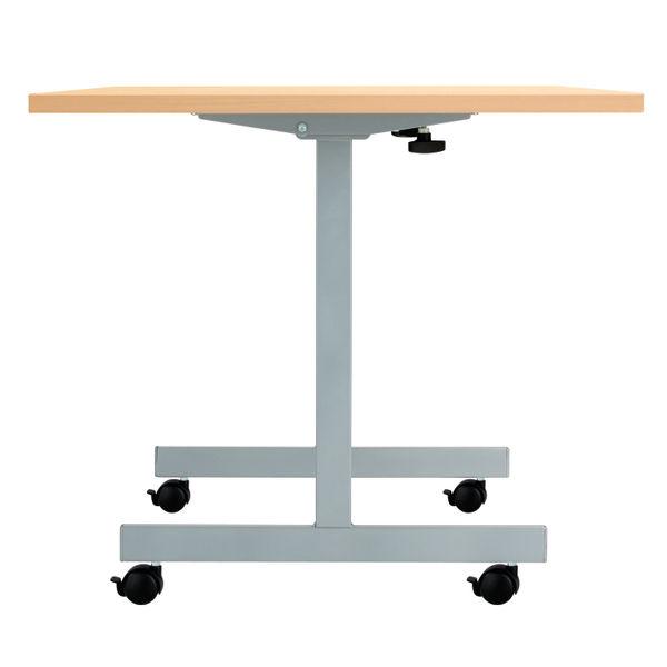 Jemini 1600x700mm Beech/Silver Rectangular Tilting Table
