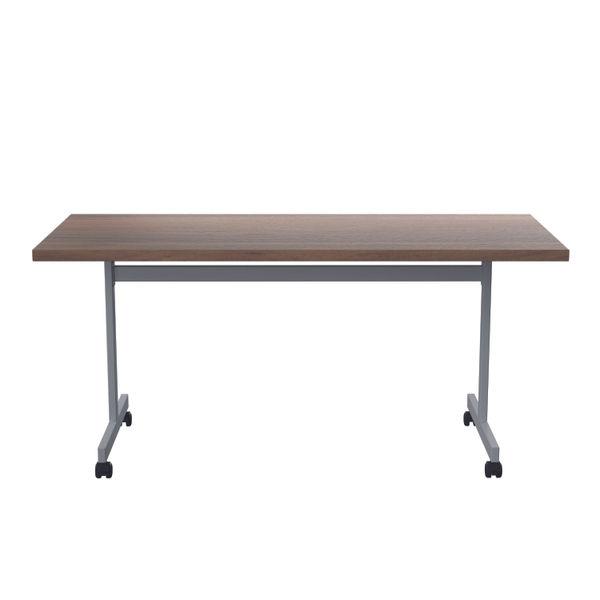 Jemini 1600x700mm Dark Walnut/Silver Rectangular Tilting Table