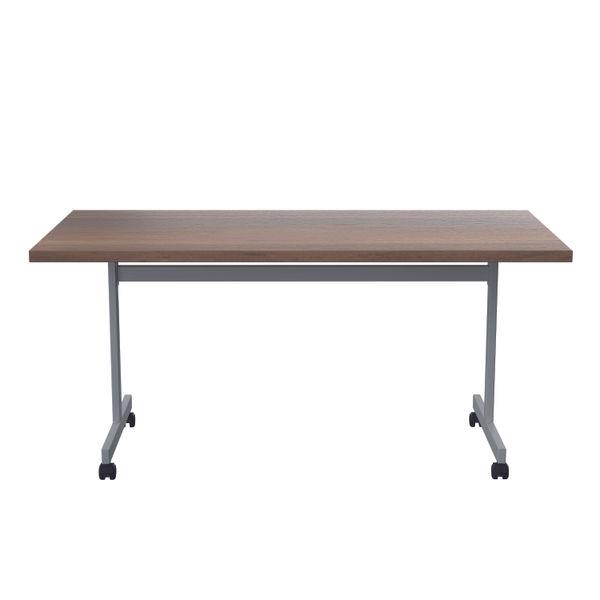 Jemini 1800x800mm Dark Walnut/Silver Rectangular Tilting Table
