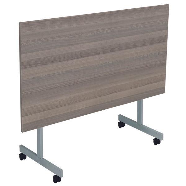 Jemini 1800x800mm Grey Oak/Silver Rectangular Tilting Table
