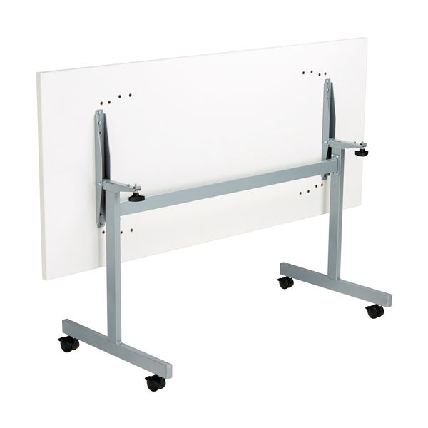 Jemini 1800x800mm White/Silver Rectangular Tilting Table
