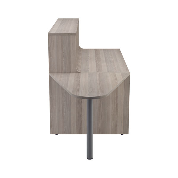 Jemini 1400mm Grey Oak Reception Unit with Extension