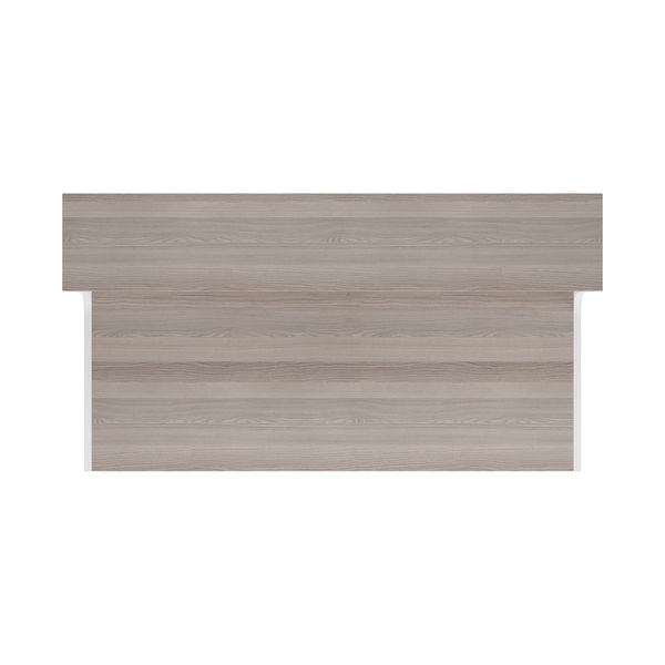 Jemini 1400mm Grey Oak/White Reception Unit