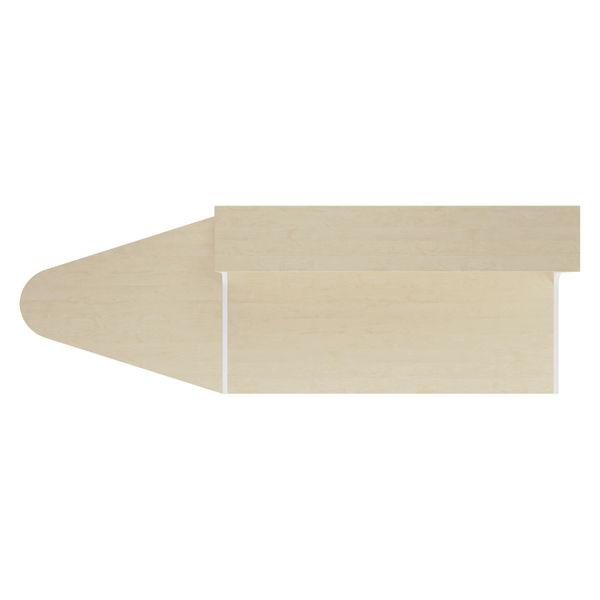 Jemini 1400mm Maple/White Reception Unit with Extension